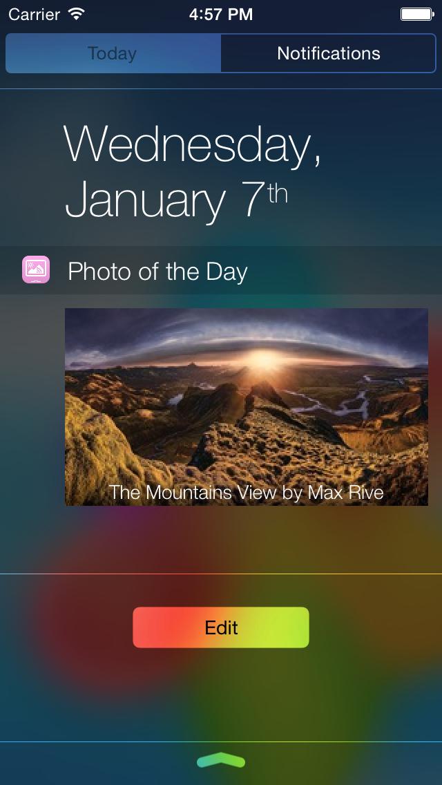 Photo Of The Day Widget screenshot 1