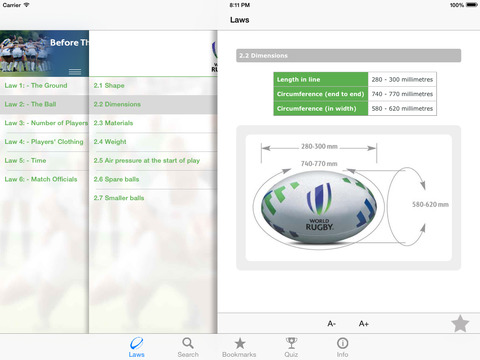 World Rugby Laws of Rugby 2016 screenshot 4