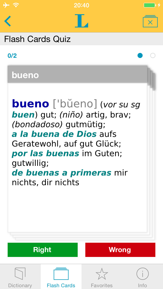 Spanish <-> German Talking Dictionary Basic screenshot 3