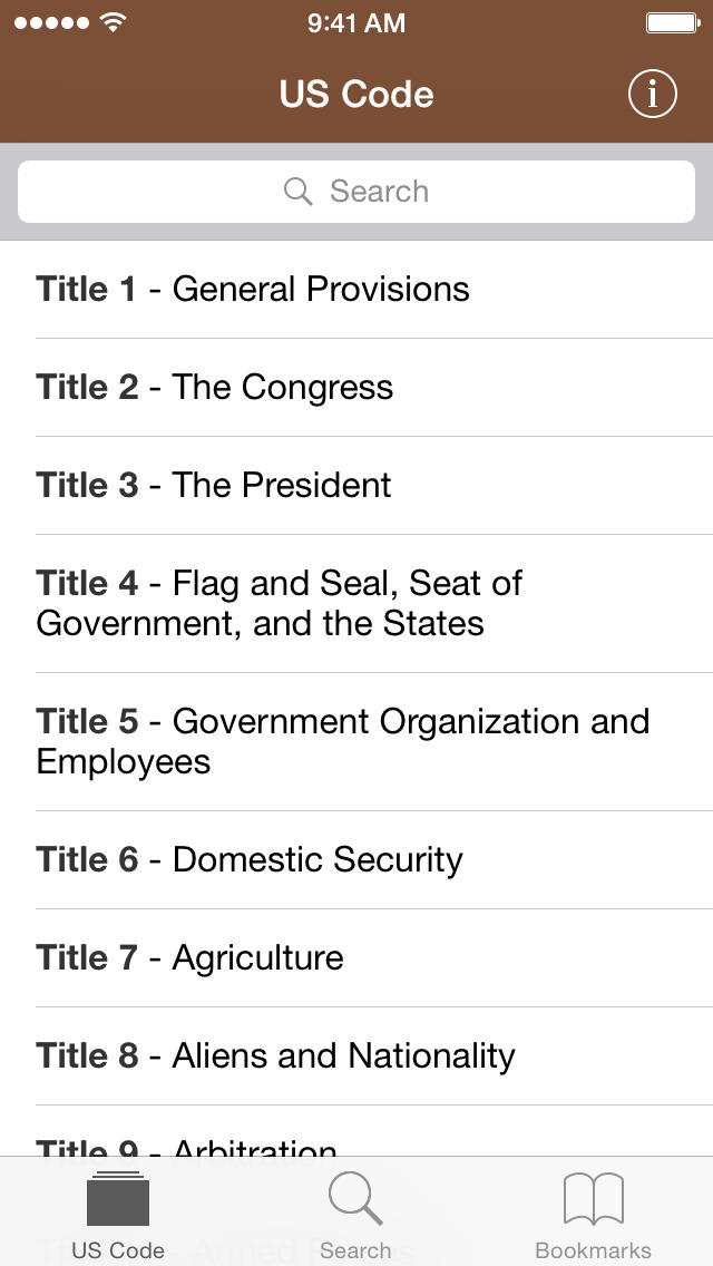 Codification (U.S. Code) screenshot 1