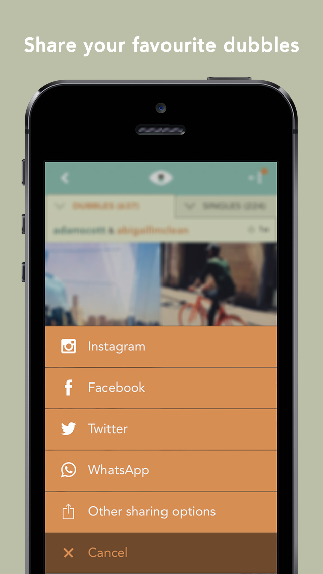 dubble - mix your photos with the world screenshot 3