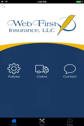 WebFirst Insurance - náhled