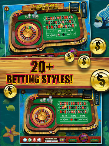 Roulette of Tropical Fish Casino 777 (Win Big) screenshot 9