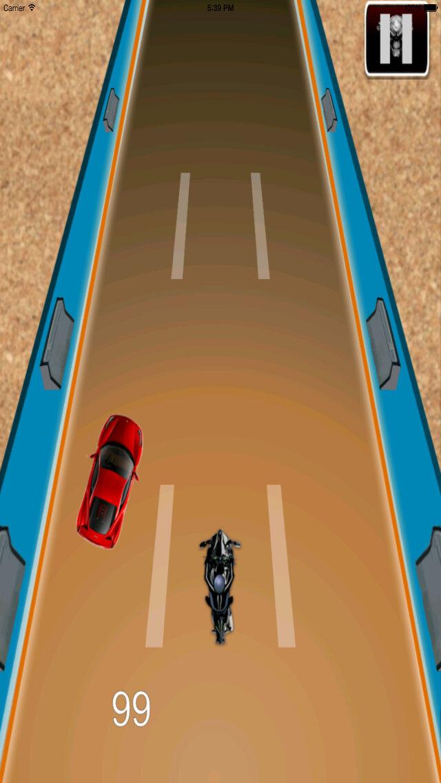 Radiation Fire Bike Pro - Furious One Touch Motorcycle Racing screenshot 5