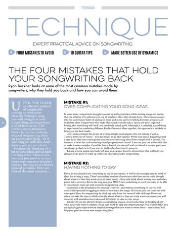 Songwriting Magazine screenshot 6