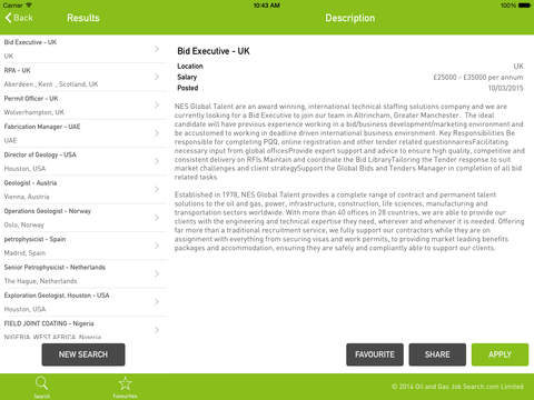 Oil And Gas Job Search for iPad - náhled