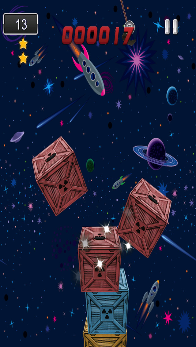 A Space Frontier Crane Stacker Game Pro Full Version screenshot 4