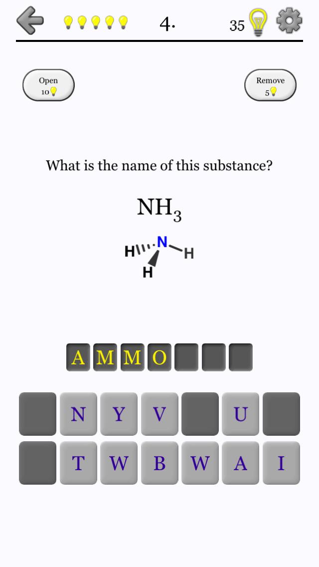 Chemical Substances: Chem-Quiz screenshot 2