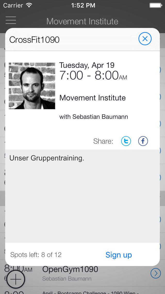 Movement Institute App screenshot 2