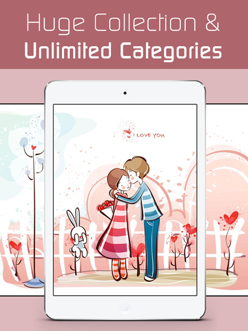 Love Wallpapers HD, Romantic Backgrounds & Valentine's Day Cards screenshot 9