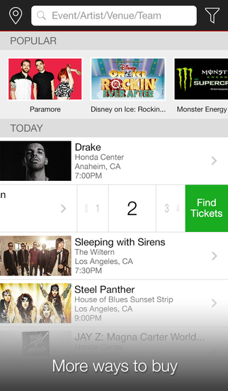 Ticketmaster-Buy, Sell Tickets screenshot 1