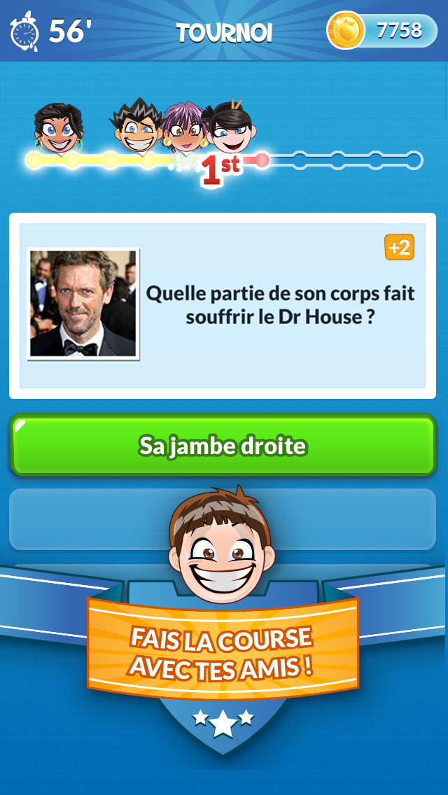 Quiz Run - Jeu fun entre amis screenshot 1