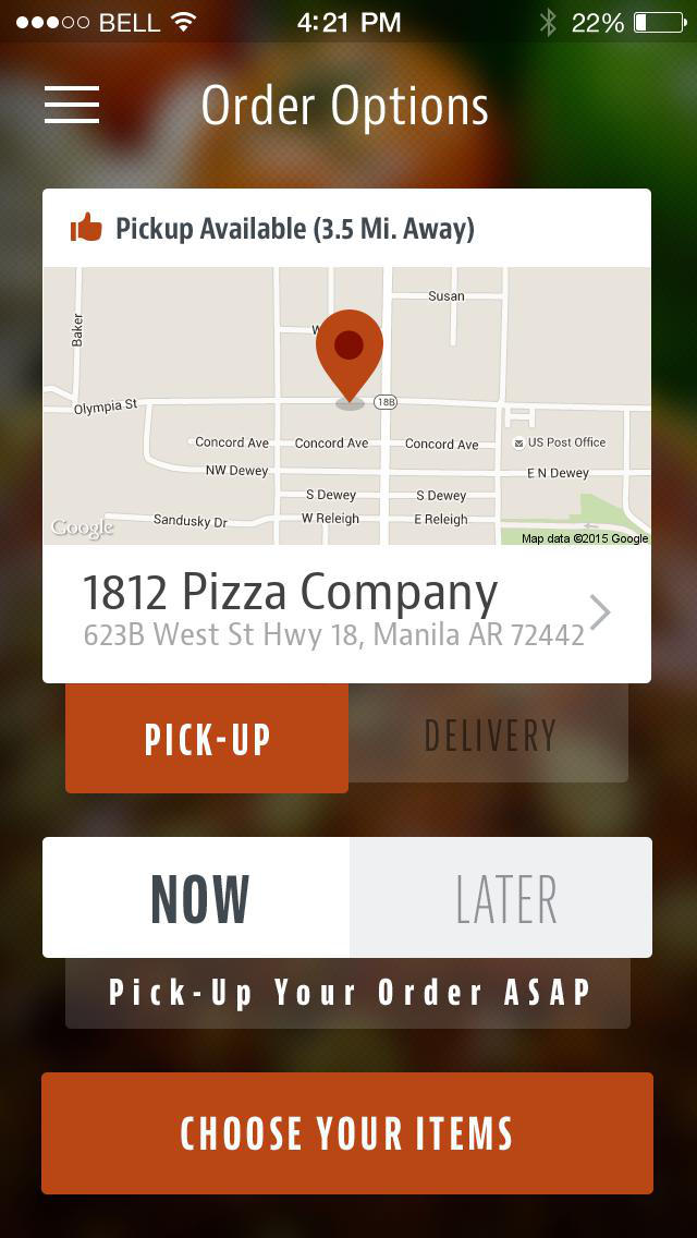 1812 Pizza Company screenshot 2