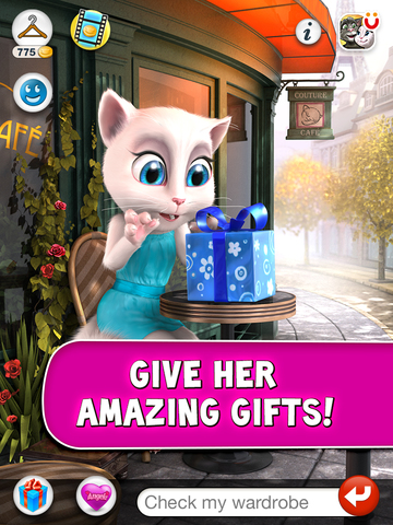 Talking Angela for iPad screenshot 3