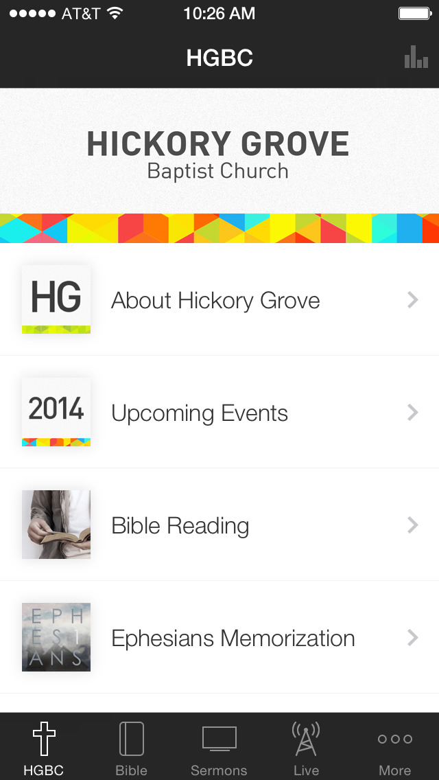 Hickory Grove Baptist Church screenshot 1