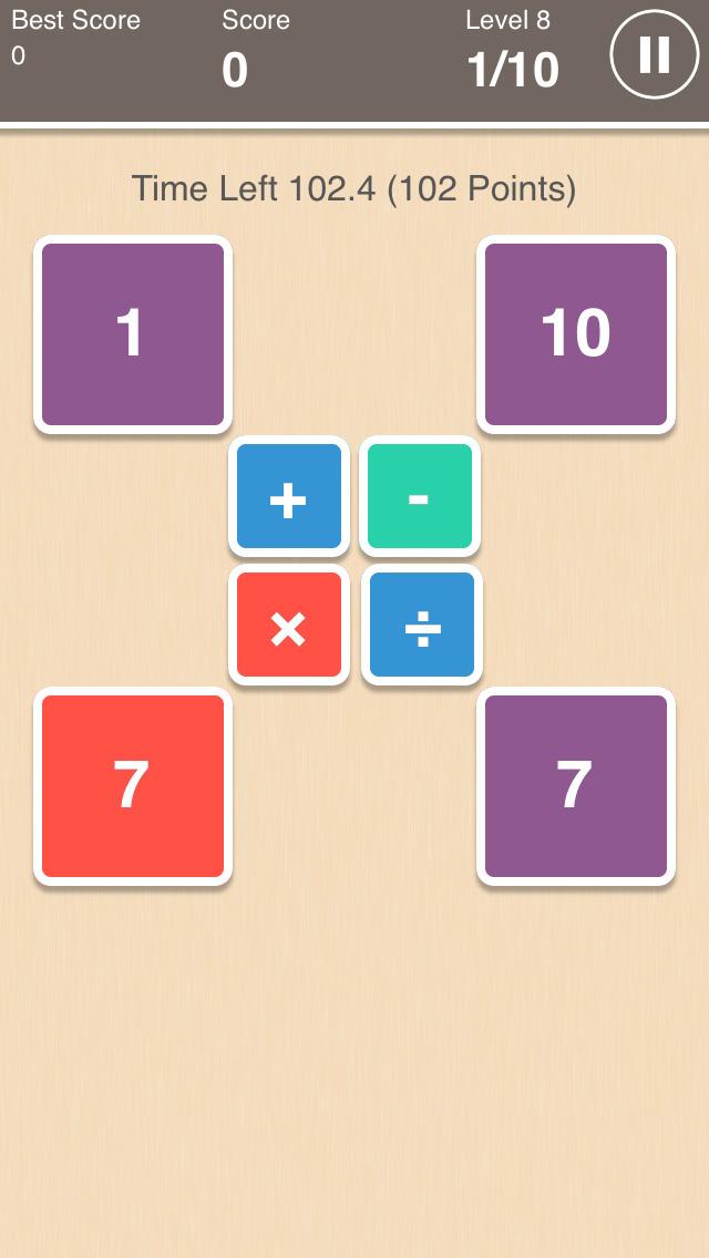 Addictive Brain Math Game - Add Sub Mul Div screenshot 1
