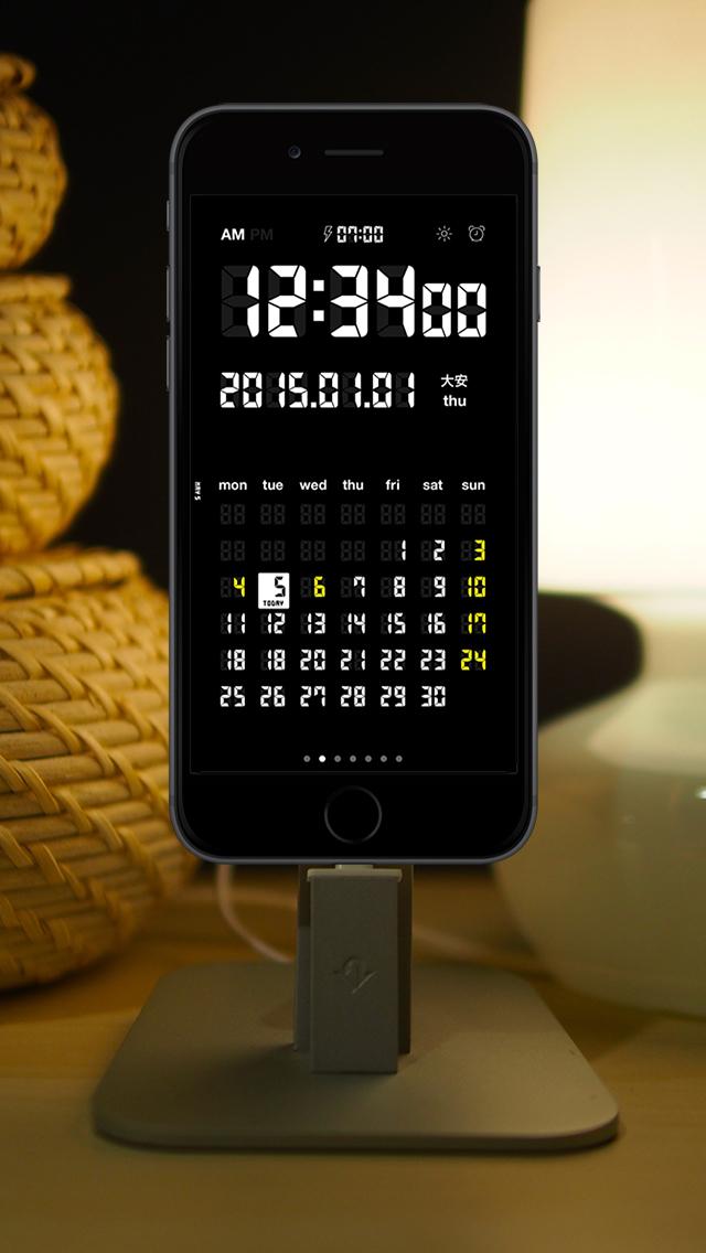 LCD Clock - Clock & Calendar screenshot 3