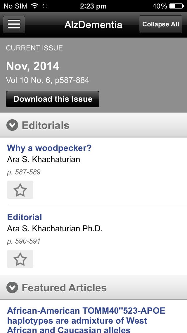 Alzheimer's & Dementia Journal screenshot 5