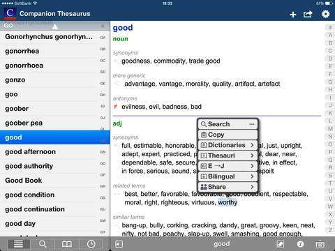 English Thesaurus (WordNet) screenshot 9
