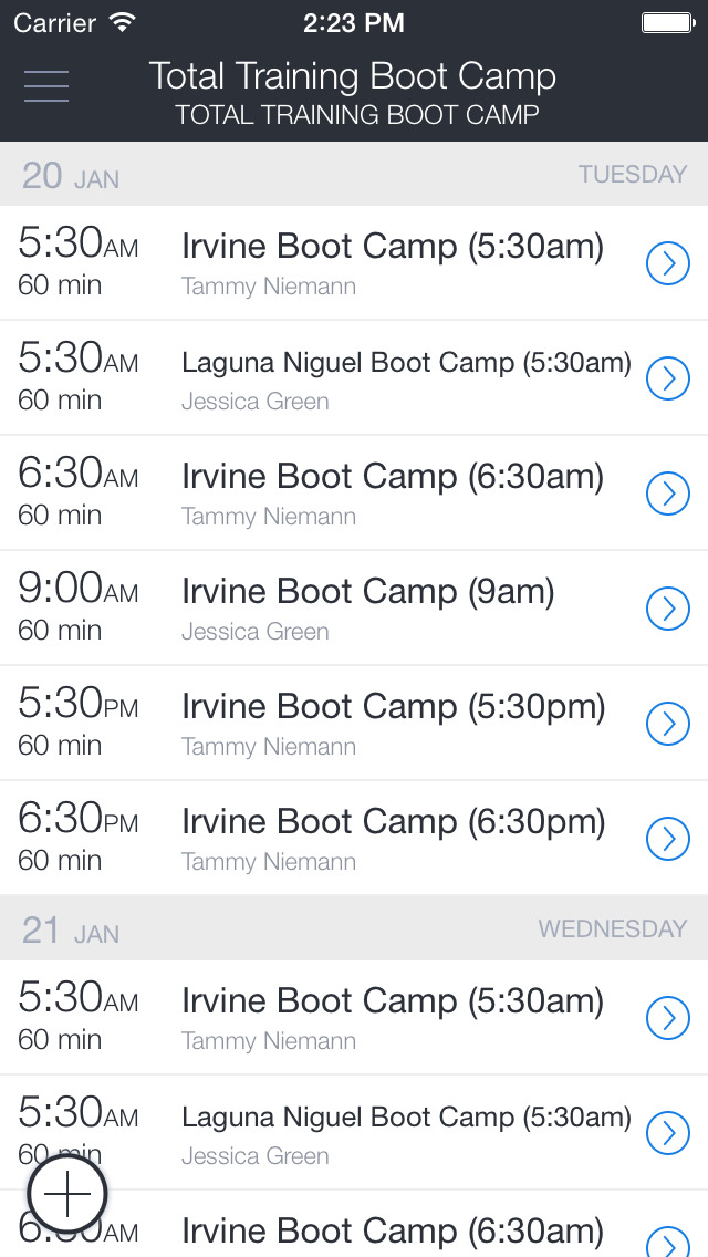 Total Training Boot Camp screenshot 1