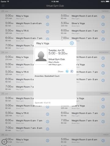 Virtual Gym Club screenshot 4