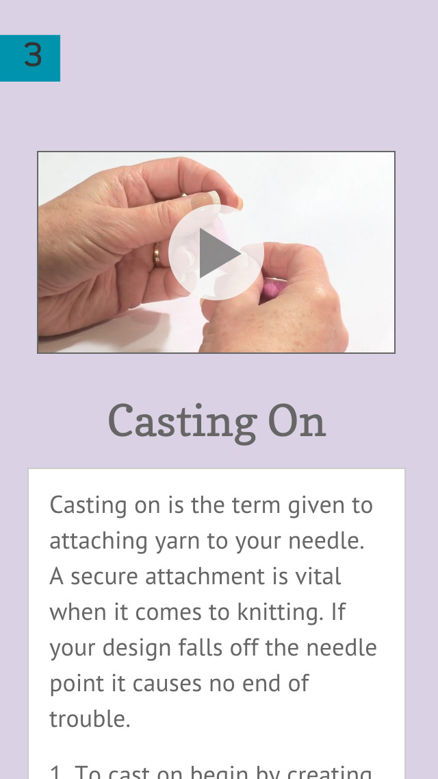 Knitting, A Basic Guide screenshot 2
