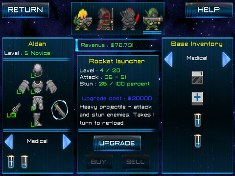 Space Bounties Inc. (strategy turn-based RPG) screenshot 10