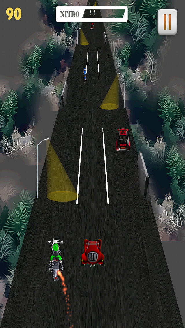 Motor Bike Night Rally Pro - Nitro Boost screenshot 2