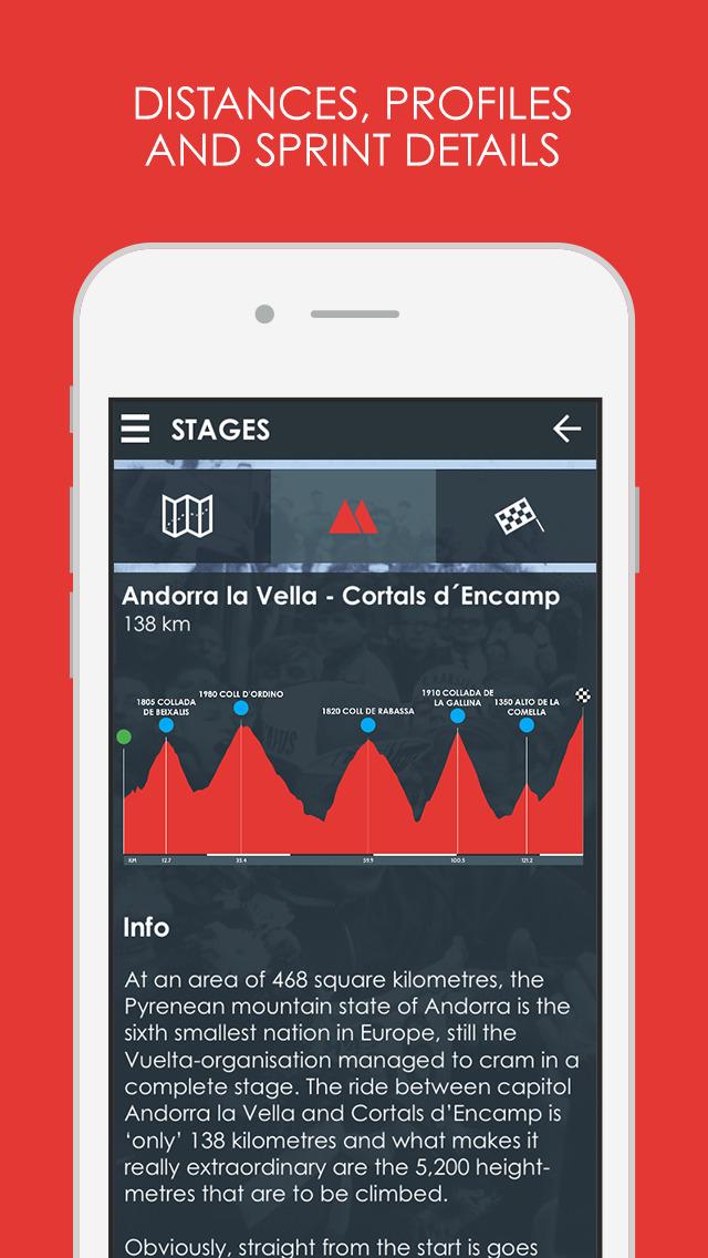 Cycling Tour App - La Vuelta 2015 edition Pro screenshot 3