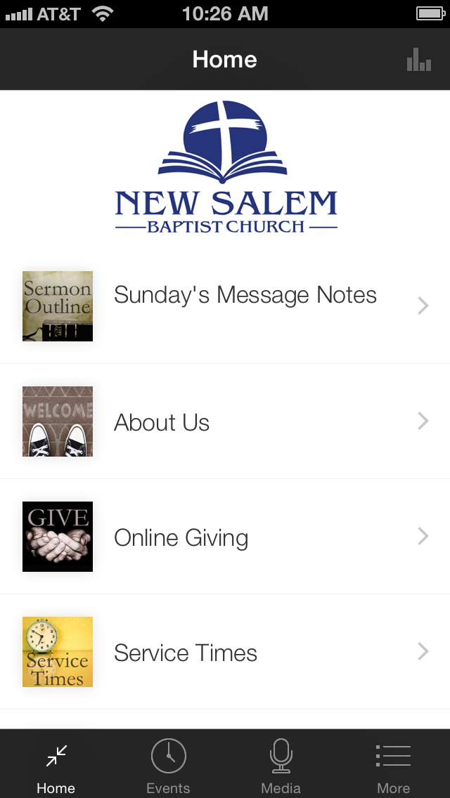 New Salem Baptist Church screenshot 1