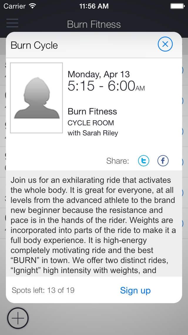 Burn Fitness Studio screenshot 2