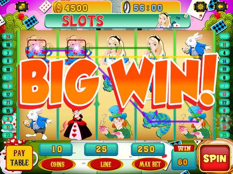 A Lucky Rabbit Slots Game - Vegas Wonderland Casino Games Free screenshot 8