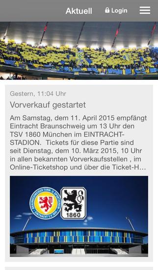 Eintracht Braunschweig screenshot 1
