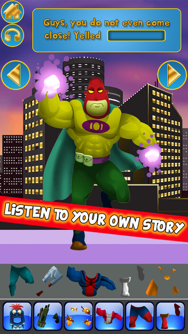 Create My Own Interactive Action Superheroes And Super Villains Story Books Advert Free Game screenshot 3