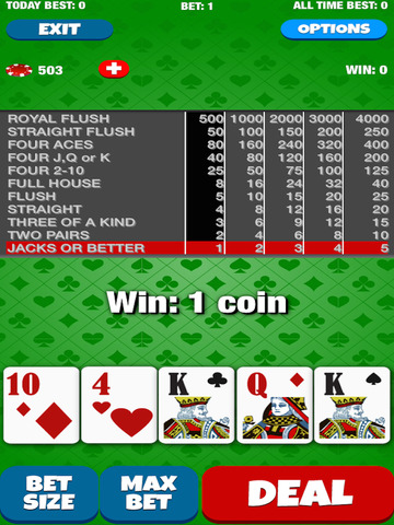 A Video Poker Casino Game screenshot 7