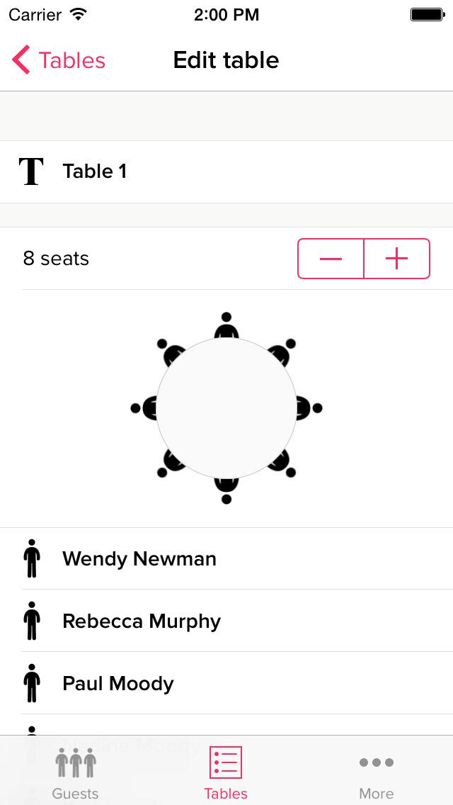 My Wedding Table Planner screenshot 3