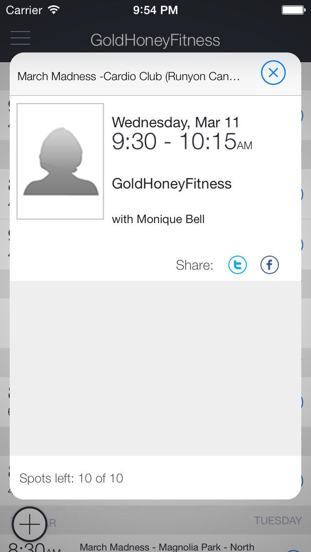 Gold Honey Fitness screenshot 2