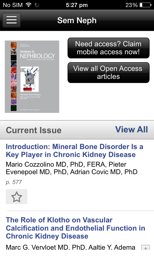 Seminars in Nephrology screenshot 3