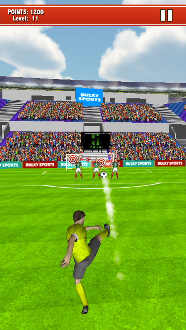 Soccer Kicks 2015 - Ultimate football penalty shootout game by BULKY SPORTS screenshot 1