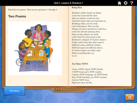HMH English Learner Assessment Practice Grade 4 screenshot 2