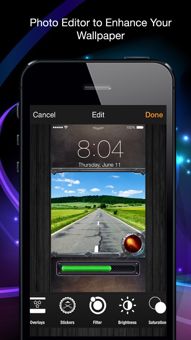 Smart Lock: Custom Lock and Home Screen Wallpaper for iOS 7 screenshot 2