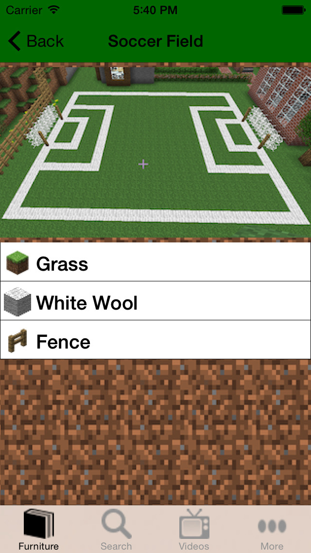 FURNITURE INFO FOR MINECRAFT PE (POCKET EDITION) screenshot 3