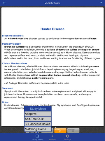 Biochemistry and Genetics Lange Flash Cards screenshot 9