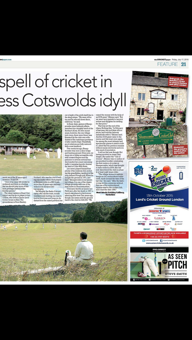 The Cricket Paper Magazine screenshot 5