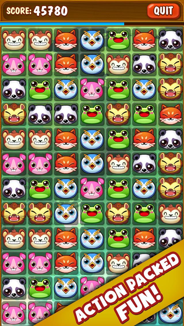 ``Animal Zoo Matching Mania - Match 3 Pet Puzzle Game screenshot 1