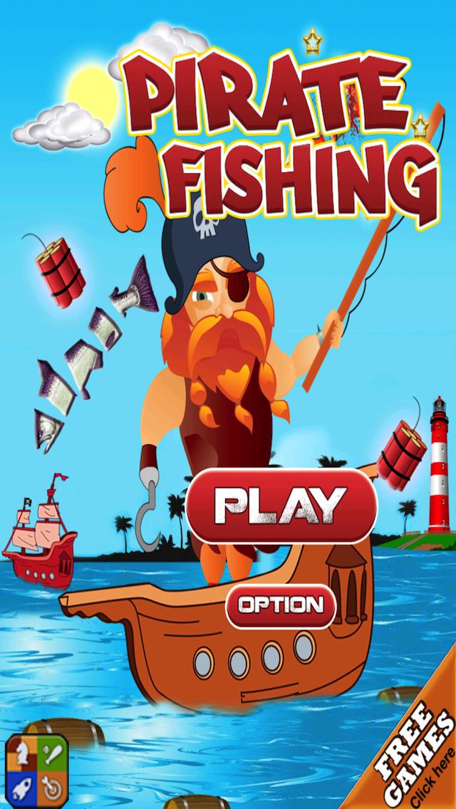 Free Fishing Game Pirate Fishing screenshot 1