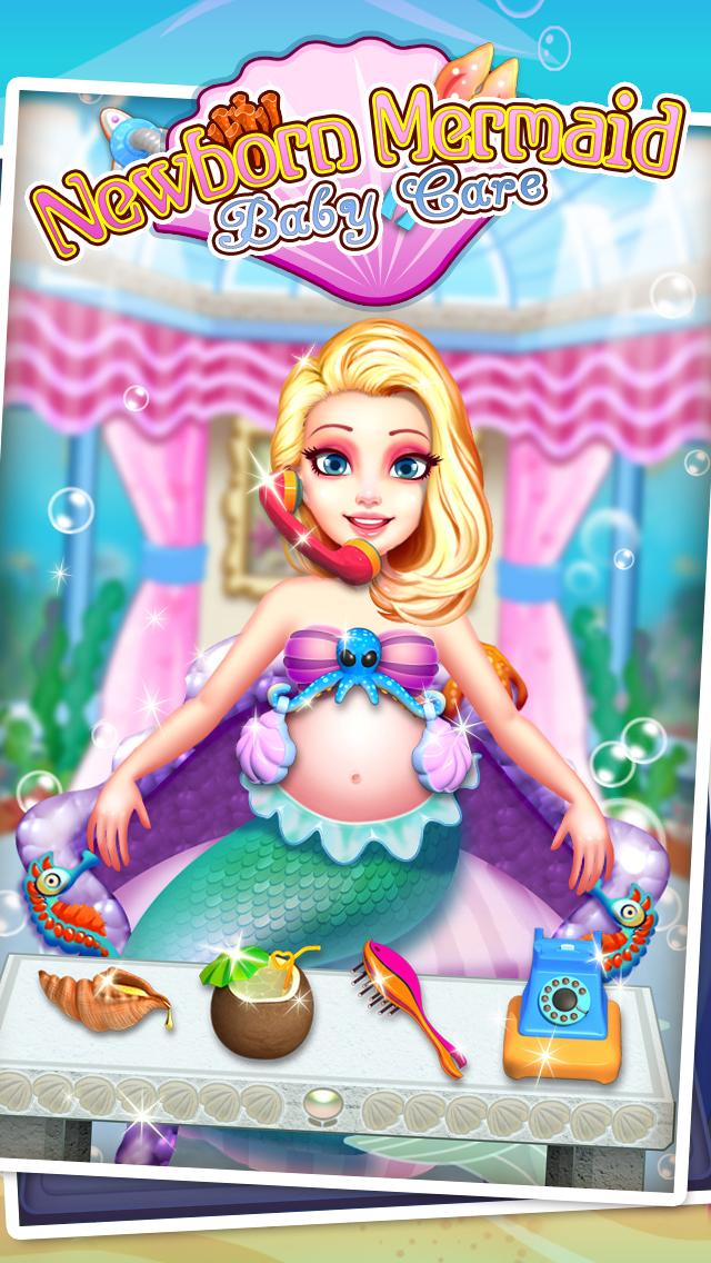 Mermaid's Newborn Baby Doctor - kids game & new baby screenshot 3