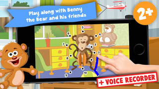 Free Kids Toys Puzzle Teach me Tracing and Counting - Learn about teddy bears and dolls for boys and girls screenshot 1