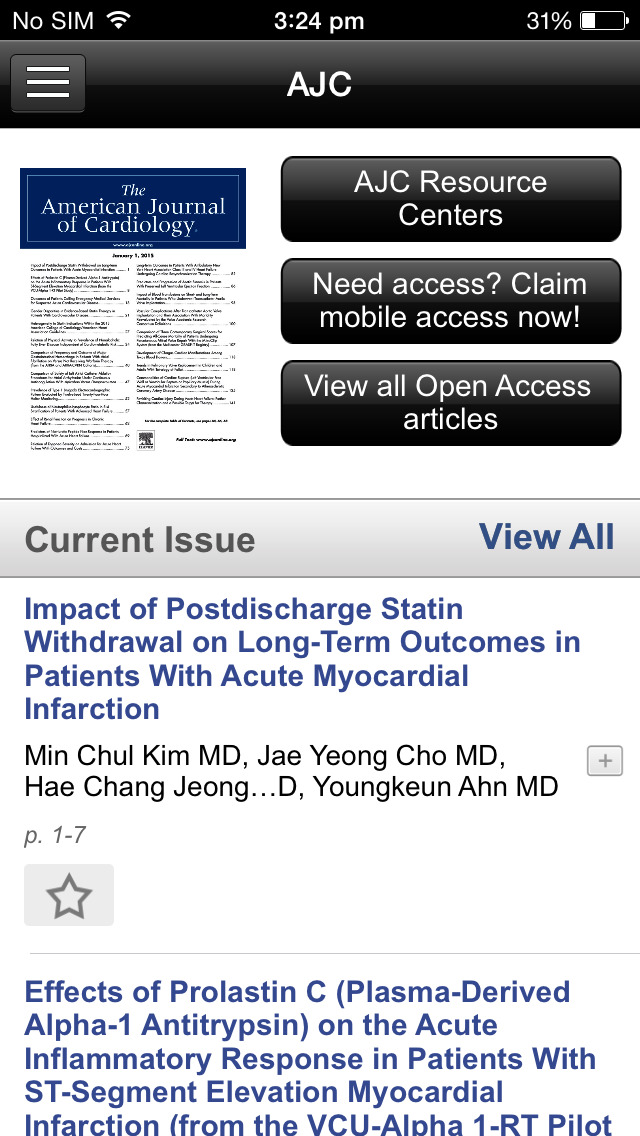 American Journal of Cardiology screenshot 4