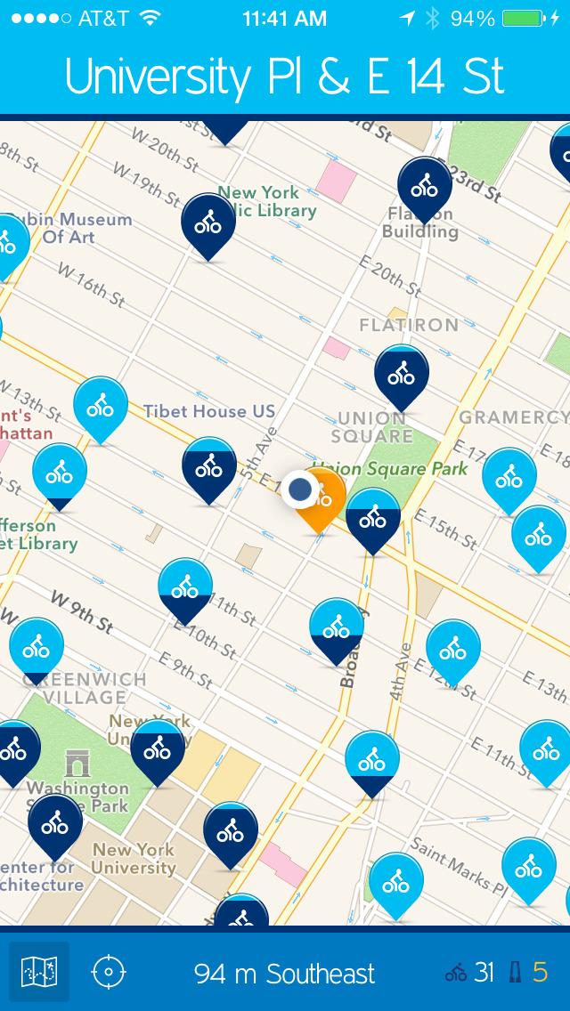 NYC Bikes — A One-Tap Citi Bike App screenshot 4